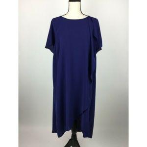 Adrianna Papell Shift Dress 18W Purple Ruff A11-15